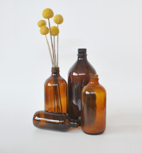 Assorted Brown Bottles