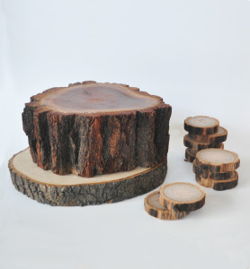 Assorted Rustic Tree Slices