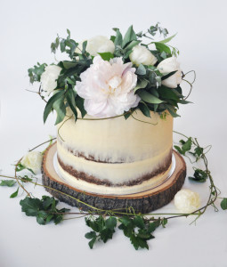 One Tier Semi-Naked Cake