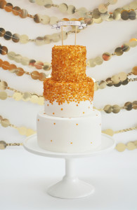 Edible Gold Sequin Cake